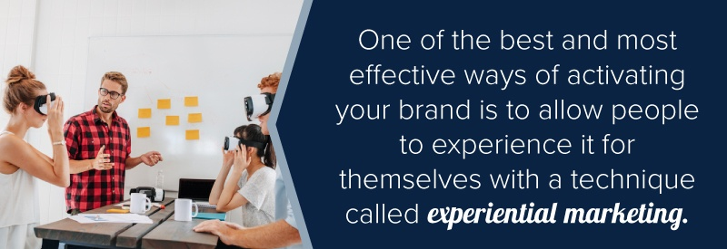 brand activation through experiences